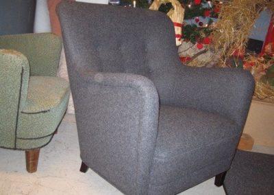 LænestolTypisk stol fra perioden 1940 til 1960. Holmens Klæde igen.