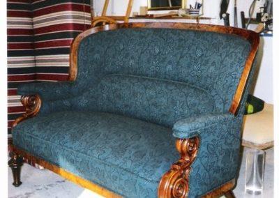 Dansk sofa med engelsk stof - Sheila Coombes Design